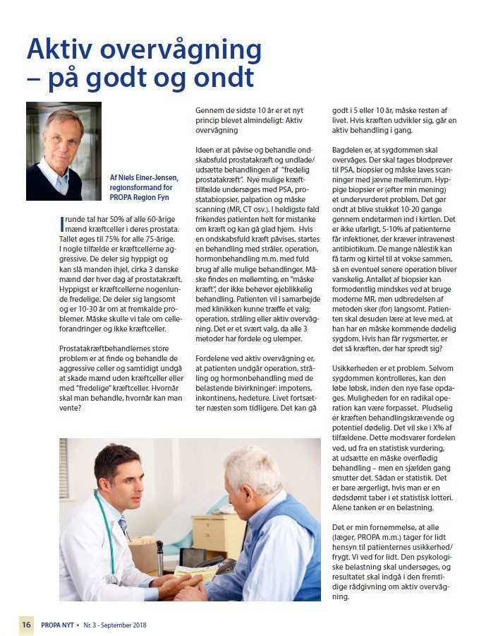 prostatakræft operation bivirkninger
